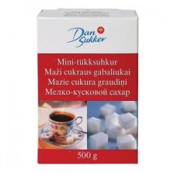 Cukurs DAN SUKKER baltais, kubiņos, 0.5 kg
