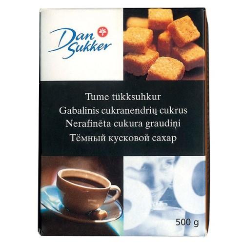 Cukurs DAN SUKKER brūnais, kubiņos, 0.5 kg